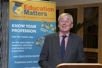 Dr Maurice Manning speaking at the launch of Education Matters Yearbook 8 in NUI, Merrion Square, Dublin