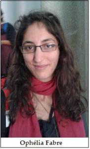 Ophélia Fabre from France, working in the Indian Institute of Science Education and Research, Trivandrum