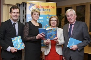 Pictured at the launch of Education Matters Yearbook 8 in NUI, Dublin, l-r: Dr Tony Hall, School of Education NUI Galway and Editor of Education Matters Yearbook; Dr Mary Fleming, Head of School of Education NUI Galway; Jan O'Sullivan, Minister for Education & Skills, Dr Maurice Manning, Chancellor NUI.