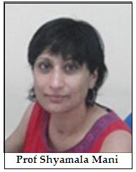 Shyamala Mani of the Indian Institute of Science